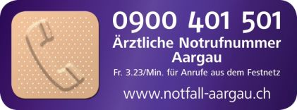 Ärztliche Notfallnummer Aargau